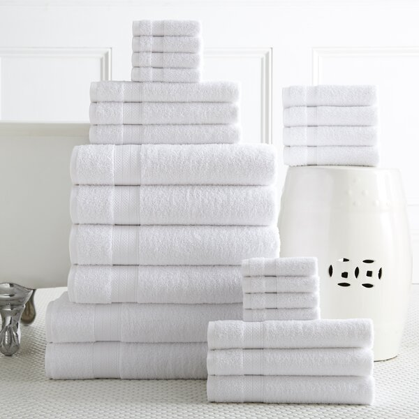 Trimont 24 Piece 100% Cotton Towel Set by Latitude Run